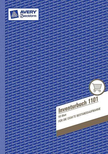 Zweckform Inventurbuch/1101 DIN A4 hoch weiß Inh. 50 Blatt